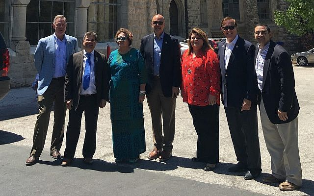 A bipartisan delegation of US House members who visited Israel and the West Bank in July 2019 (Courtesy)