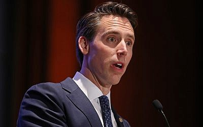 Sen. Josh Hawley (R-MO) addresses the Faith and Freedom Coalition's Road to Majority Policy Conference in Washington, DC on June 27, 2019. (Chip Somodevilla/Getty Images)