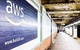 Amazon Web Services advertisement on an underground platform at a New York City subway station (krblokhin; iStock by Getty Images)