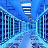 An illustrative image of a data center; server farm (cybrain; iStock by Getty Images)