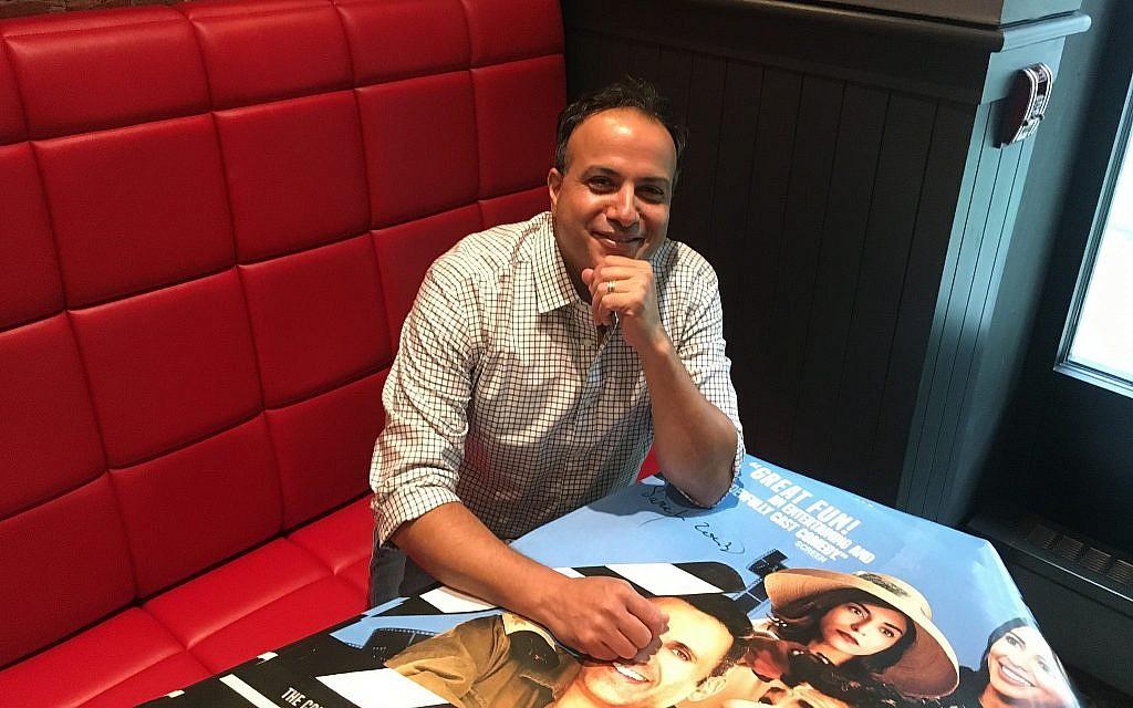 Director Sameh Zoabi at the Quad Cinema in New York City. (Jordan Hoffman/Times of Israel)