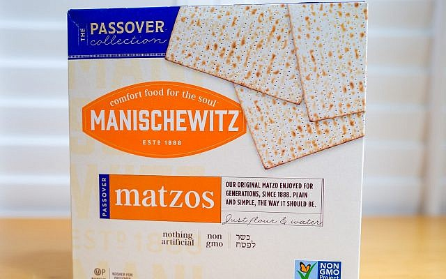 A box of Manischewitz matzah from 2019. (Smith Collection/Gado/Getty Images via JTA)