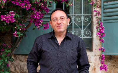 Michel Kichka, the award-winning Israeli cartoonist, illustrator and lecturer, reflecting on his career and future work (Courtesy Michel Kichka)