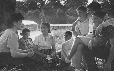 Young Jewish refugees at a camp near Windermere in England, 1946. Laws passed after World War II shaped US refugee admission program. (Kurt Hutton/Getty Images)