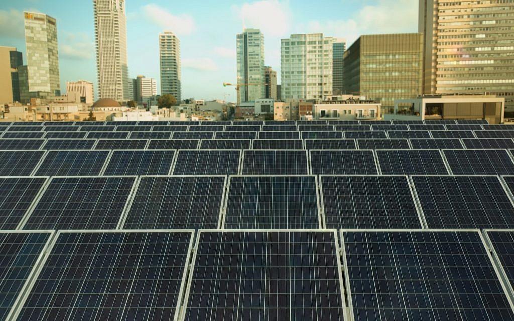 Electricity-generating solar panels. (Danny Shechtman)