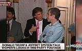 NBC News footage from November 1992 showing Donald Trump and Jeffrey Epstein at a party in Trump's Mar-a-Lago resort. (YouTube screen capture)