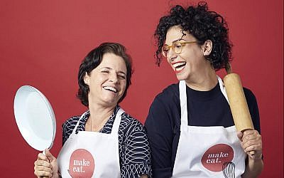 Michal Klimberg (left) and Shir Halperin partnered together to create Make Eat, a shared cooking space for small-scale food manufacturers (Afik Gabay)