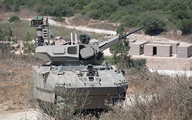 A tank prototype developed by Elbit Systems as part of the Defense Ministry's Carmel project, which was tested on August 4, 2019. (Defense Ministry)