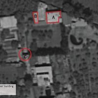 A satellite image showing a small base in the Syrian town of Aqrabah from which the Israeli military says Iran tried to launch explosive-laden drones into northern Israel from Syria in August 2019. (Israel Defense Forces)