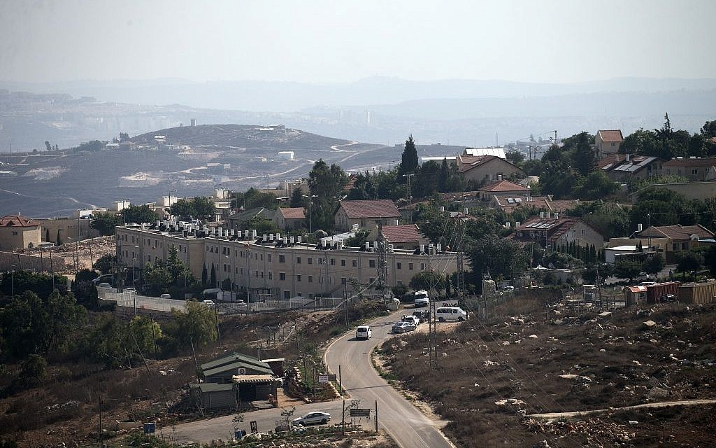 A general view taken on August 6, 2019, shows the Israeli settlement of Har Bracha near the West Bank village of Burin. (JAAFAR ASHTIYEH / AFP)