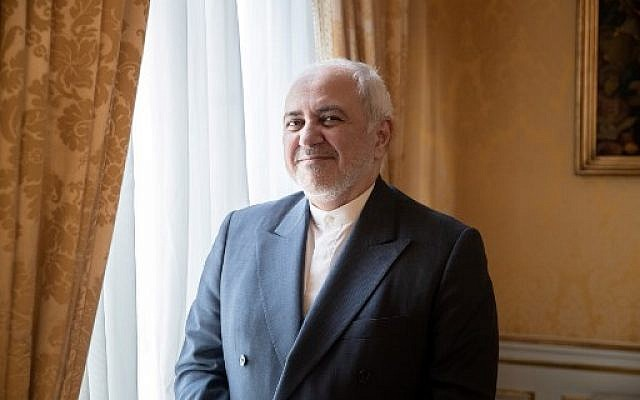 Iranian Foreign Minister Mohammad Javad Zarif poses for a photograph during an interview at the residence of Iranian ambassador in Paris on August 23, 2019. (Geoffroy van der Hasselt/AFP)