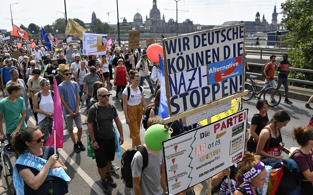Thousands march against racism in Germany as far-right AfD surges in local polls