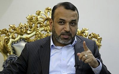 Ahmad al-Assadi, an Iraqi parliamentarian and leading member of the Popular Mobilization Forces, speaks during an interview in Baghdad on August 29, 2019 (Ahmad Al-Rubaye/AFP)
