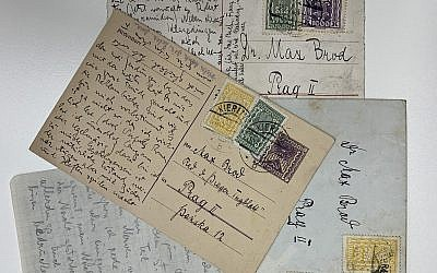 Postcards by Franz Kafka from the literary estate of Max Brod, (National Library of Israel)