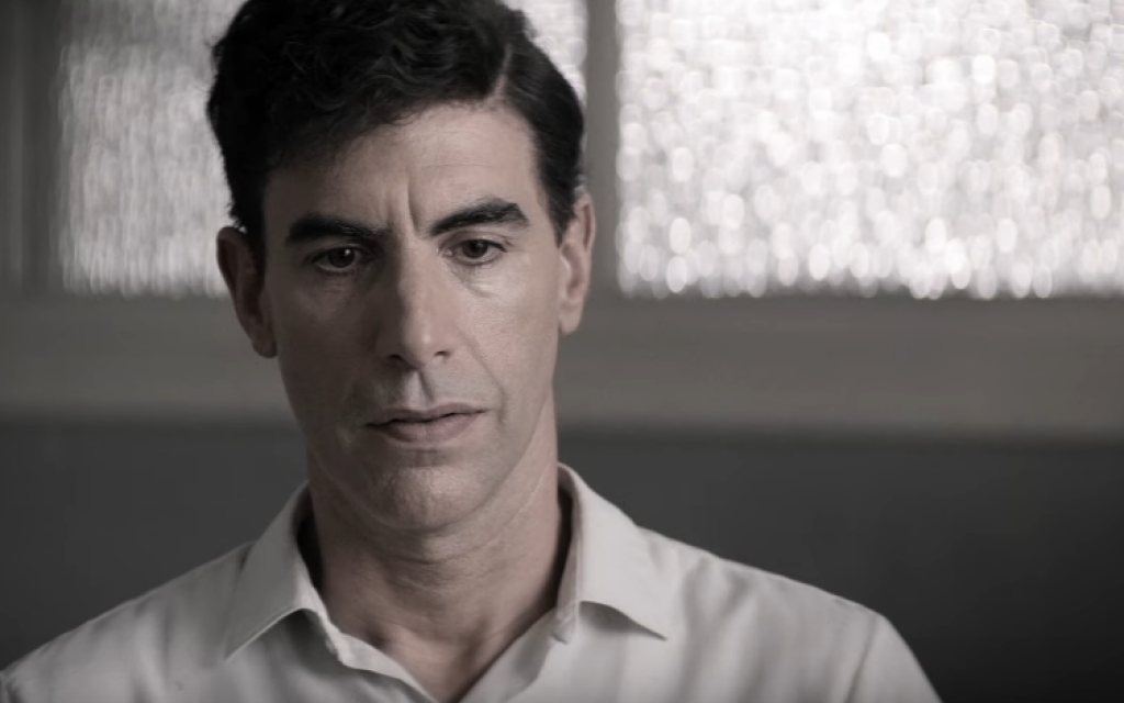 Sacha Baron Cohen as Israeli spy Eli Cohen in 'The Spy' (YouTube screenshot)