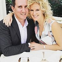 Jonathan Goldstein with his wife Hannah Goldstein (Family Handout/PA Wire via the Jewish News)