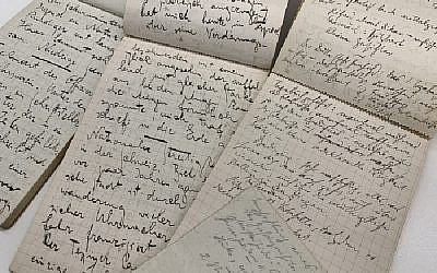 Handwritten manuscripts by Franz Kafka from the literary estate of Max Brod, (National Library of Israel)
