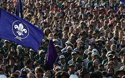 Scouts from all over the world at the World Scout Jamboree in 2007 in Chelmsford, England. This year's edition took place in Glen Jean, West Virginia. (Cate Gillon/Getty Images via JTA)