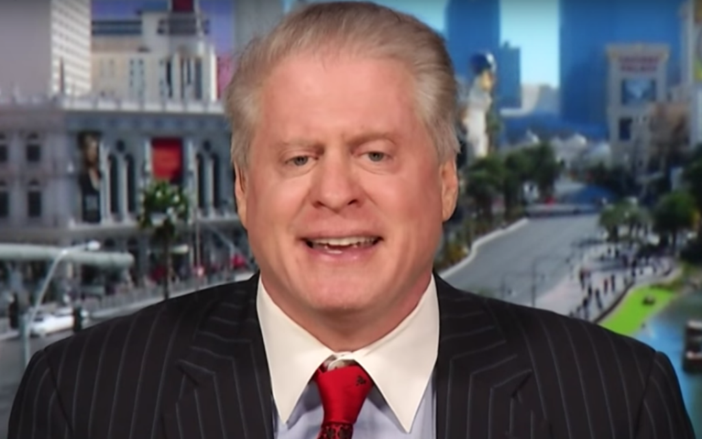 """Wayne Allyn Root appears on Larry King's """"PolitiKING"""" show in 2015. (Screenshot from YouTube)"""