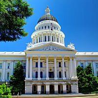 The California state capitol in Sacramento. (Wikimedia Commons via JTA)