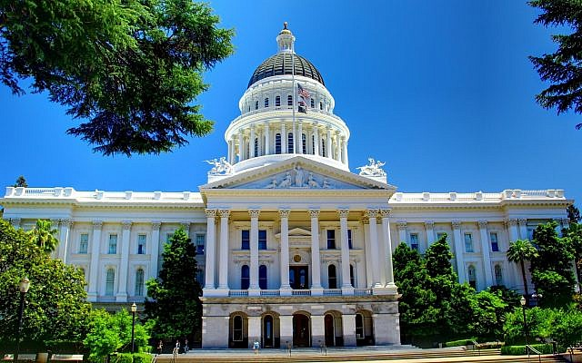 The California state capitol in Sacramento. (Wikimedia Commons via JTA)