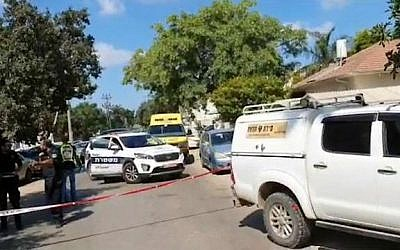 The scene of a shooting in Pardes Hannah, August 21, 2019. (Magen David Adom)