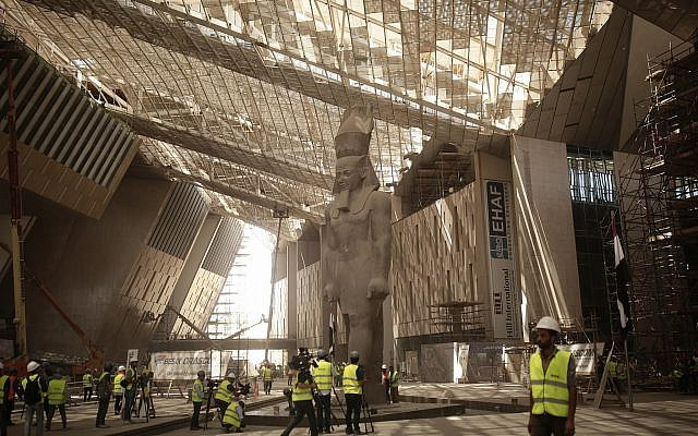 Egypt restores King Tut's golden coffin as Grand Museum nears completion