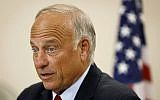 US Rep. Steve King, Republican of Iowa, during a town hall meeting, August 13, 2019 (AP Photo/Charlie Neibergall)