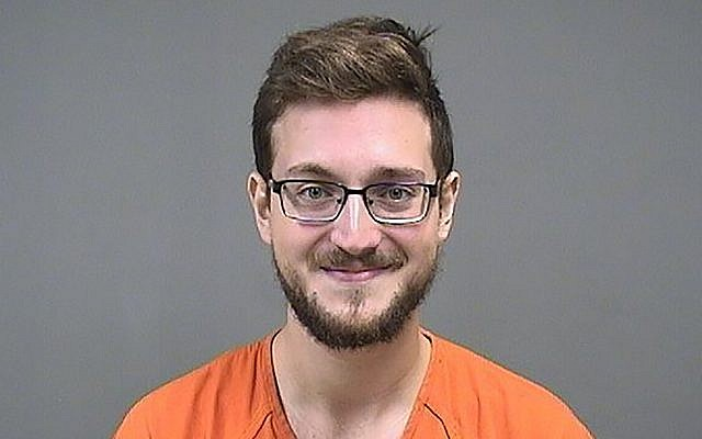 This undated photo provided by the Mahoning County Sheriff's Office shows James Reardon Jr. Police say Reardon, accused of making what they believe was a threat to a Jewish center in Ohio on Instagram, was arrested August 17, 2019, on telecommunications harassment and aggravated menacing charges. (Mahoning County Sheriff's Office via AP)