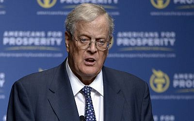 In this photo from August 30, 2013, David Koch speaks in Orlando, Florida. (AP Photo/Phelan M. Ebenhack, File)