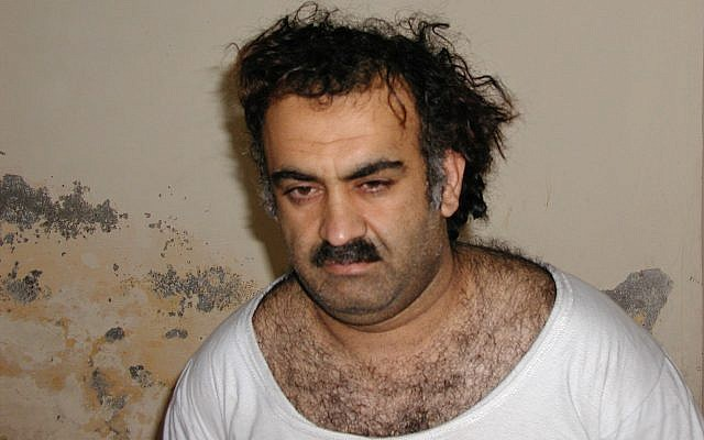 This March 1, 2003, file photo obtained by the Associated Press shows Khalid Sheikh Mohammed, the alleged Sept. 11 mastermind, shortly after his capture during a raid in Pakistan. (AP Photo, File)