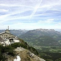 Eagle's Nest, designed as a present for Adolf Hitler's 50th birthday and built on the Kehlstein mountain overlooking Berchtesgaden, Germany, May 10, 2007 (AP Photo/Yves Logghe)