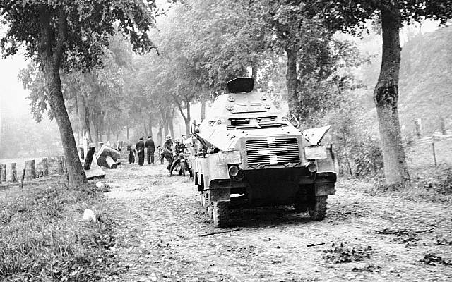 German armored tanks are seen as they advance on Poland Sept. 1939
