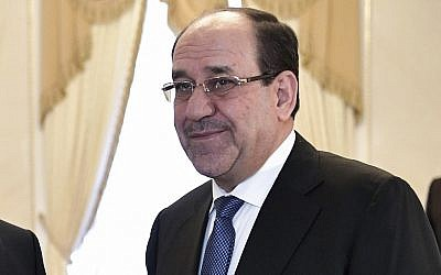 File: Vice President of Iraq Nouri al-Maliki in St.Petersburg, Russia, July 25, 2017. (Alexei Nikolsky, Sputnik, Kremlin Pool Photo via AP)