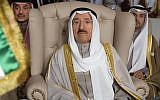 Kuwait's Emir Sheikh Sabah al-Ahmad al-Jaber al-Sabah attends the opening of the 30th Arab Summit in Tunis, Tunisia, March 31, 2019. (Fethi Belaid/ Pool photo via AP)