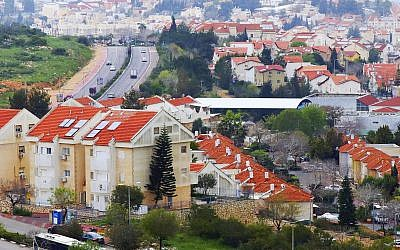 This March 25, 2019 file photo, shows houses in the Israeli settlement of Ariel, in the central West Bank. (The Yomiuri Shimbun via AP, File)