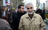 Qassem Soleimani, commander of the IRGC Quds Force, attends an annual rally commemorating the anniversary of the 1979 Islamic Revolution, in Tehran, Iran, February 11, 2016. (AP Photo/Ebrahim Noroozi)
