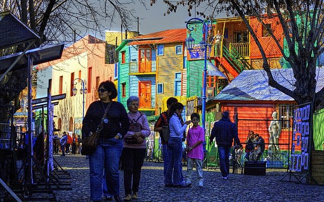 A street scene from the La Boca neighborhood of Buenos Aires, Argentina. (Wikipedia/Luis Argerich/CC BY)