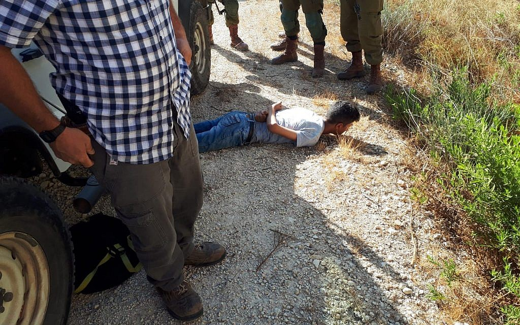 Palestinian with knife arrested near West Bank settlement