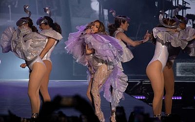 Jennifer Lopez danced, dazzled and charmed a crowd of 60,000 at her long-awaited concert on Thursday night, August 1, 2019 in Tel Aviv (Courtesy Erez Ozir)