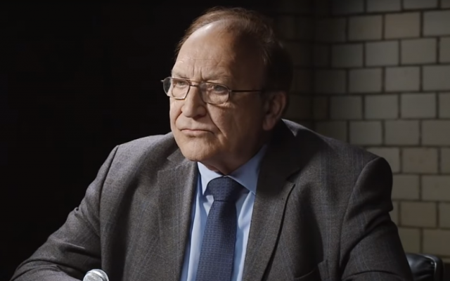 Former German diplomat Bernd Erbel is interviewed on the YouTube channel of Ken Jebsen in July 2019. (Screen capture: YouTube)