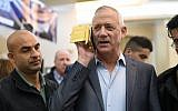 Benny Gantz, head of the Blue and White party, during an elections campaign event in Petah Tikva on March 13, 2019. (Gili Yaari/Flash90)