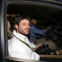 National Union party head Bezalel Smotrich arrives for a meeting with Prime Minister Benjamin Netanyahu, at the Prime Minister's Office in Jerusalem, on May 26, 2019. (Noam Revkin Fenton/Flash90)