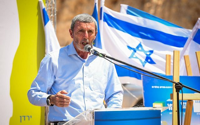 Education Minister Rafi Peretz speaks a Yemina party event in Elkana, August 21, 2019. )