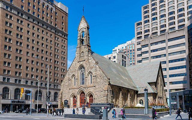 Illustrative: The Church of the Redeemer is an Anglican church and an important landmark in Toronto. (Roberto Machado Noa/LightRocket via Getty Images via JTA)
