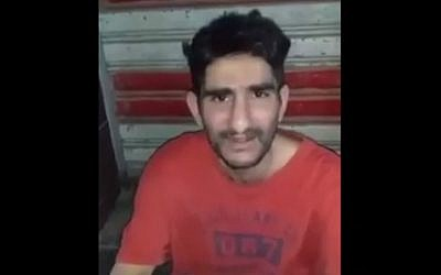 A screenshot of Iraqi-born Jimmy Al-Daoud who died in Baghdad two months after being deported from the US, August 2019. (Screenshot/BBC)