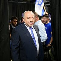 Yisrael Beytenu leader Avigdor Liberman in Tel Aviv, July 30, 2019. (Tomer Neuberg/Flash90)