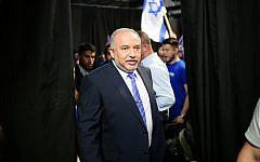 Yisrael Beytenu leader Avigdor Liberman in Tel Aviv, July 30, 2019. (Tomer Neuberg/Flash90)