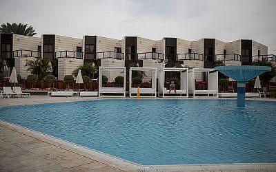 Illustrative: a pool in Eilat, February 15, 2018.(Hadas Parush/Flash90)