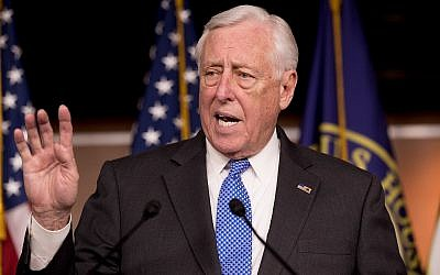 Steny Hoyer  speaks at a news conference on Capitol Hill in Washington, Jan. 22, 2019,(AP Photo/Andrew Harnik)